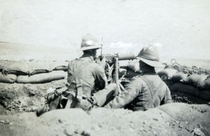 machine gun post suez road 1931