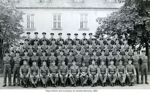 major martin and company at llenelly barracks