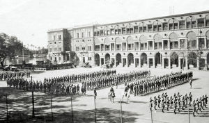 marching off to manoeuvres 8 march 1931