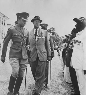 Muteesa II with KAR vets 1961