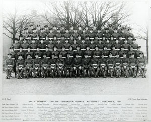no. 4 company 3rd bn. grenadier guards aldershot