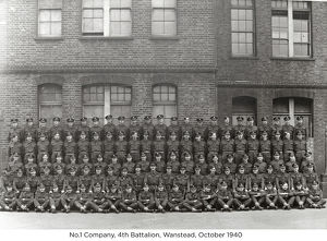 no.1 company 4th battalion wanstead october 1940