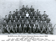 no.18 platoon 13th company grenadier guards august 1952