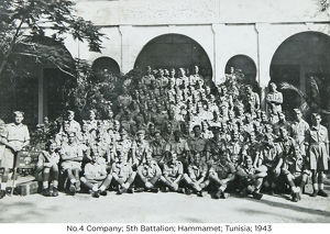 no.4 company 5th battalion hammamet tunisia 1943