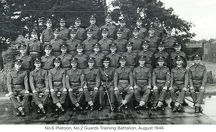 no.6 platoon no.2 guards training battalion august 1946
