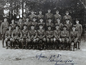officers 2nd battalion pirbright 1925