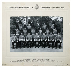 officers and ncos 13th company june 1949 l/cpls