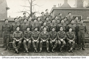 officers and sergeants no.3 squadron 4th (tank) battalion