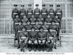 officers wos s/sgts and other ranks who served at constantinople in 1922-23