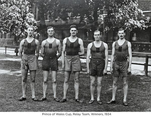 prince of wales cup relay team winners 1934