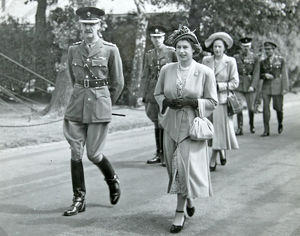 princess elizabeth colonel inspection of 14 company