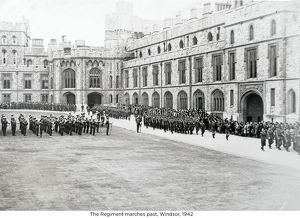the regiment marches past windsor 1942