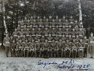 sergeants 2nd batalion pirbright 1925