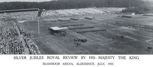 silver jubillee royal review. hm the king rushmoor arena