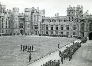 training battalion marches past hm the king windsor