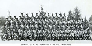 warrant officers and seregeants 1st battalion