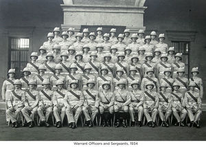 warrant officers and sergeants 1934