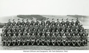 warrant officers and sergeants 4th tank battalion