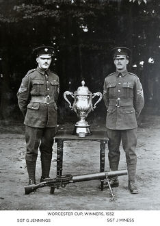 worcester cup winners 1932 sgt g jennings sgt j miness